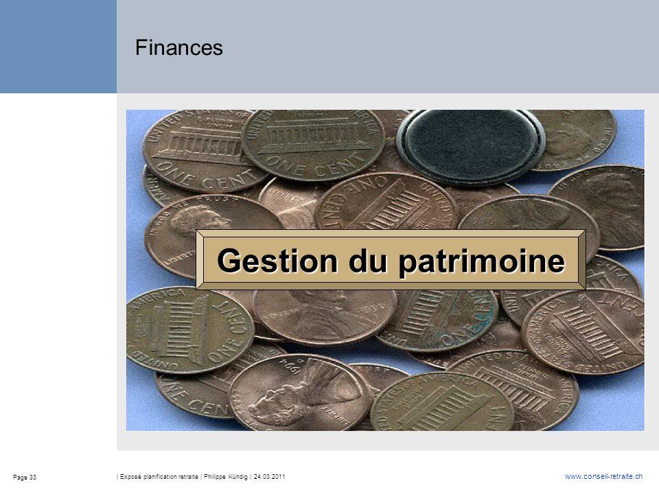 Gestion du patrimoine Finances