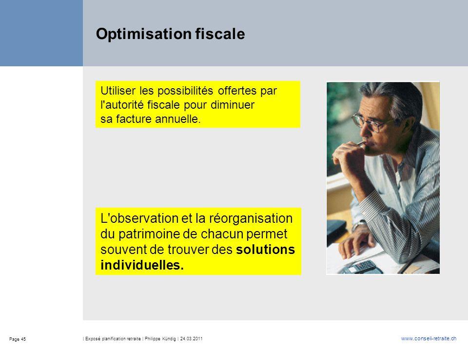 Optimisation fiscale L observation et la réorganisation