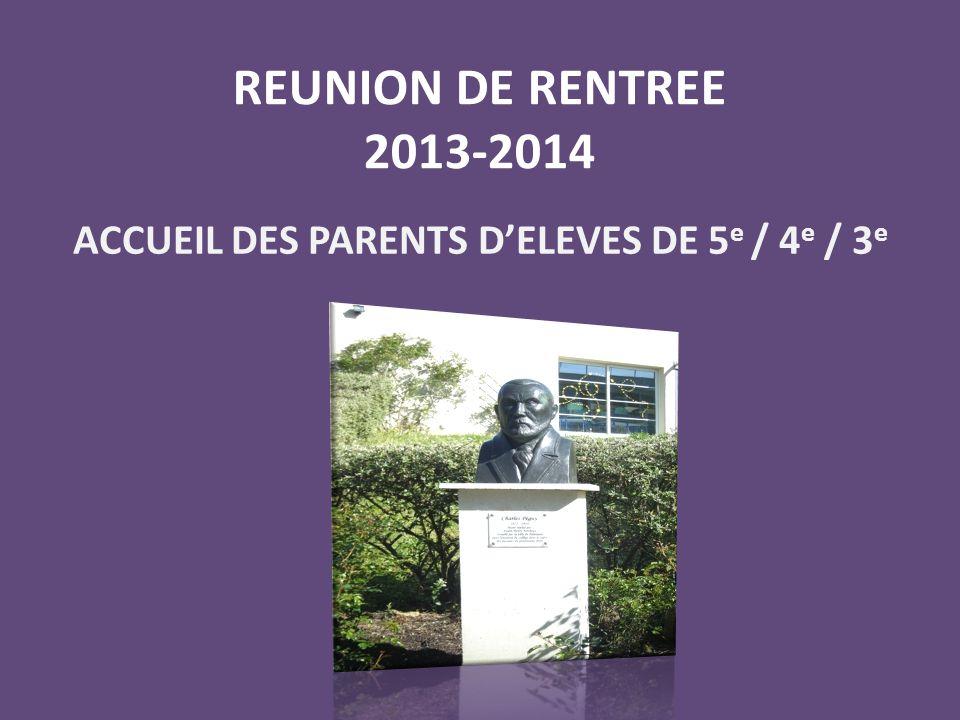 ACCUEIL DES PARENTS D'ELEVES DE 5e / 4e / 3e