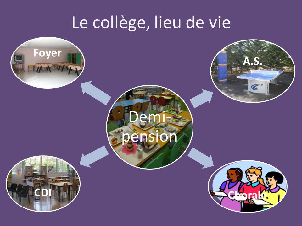 Le collège, lieu de vie Demi-pension Foyer A.S. Chorale CDI