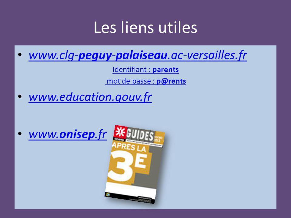 Les liens utiles www.clg-peguy-palaiseau.ac-versailles.fr