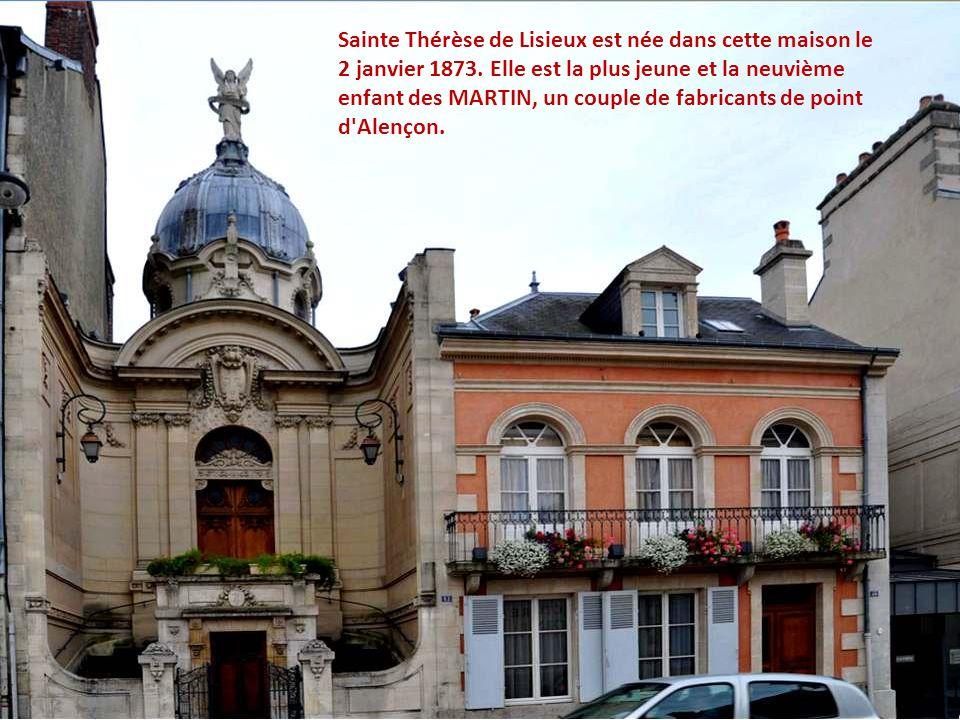 Sainte Thérèse de Lisieux est née dans cette maison le 2 janvier 1873