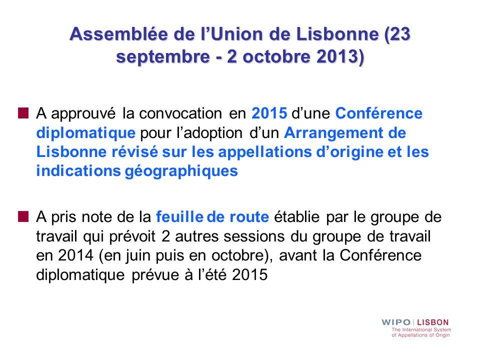 Assemblée de l'Union de Lisbonne (23 septembre - 2 octobre 2013)