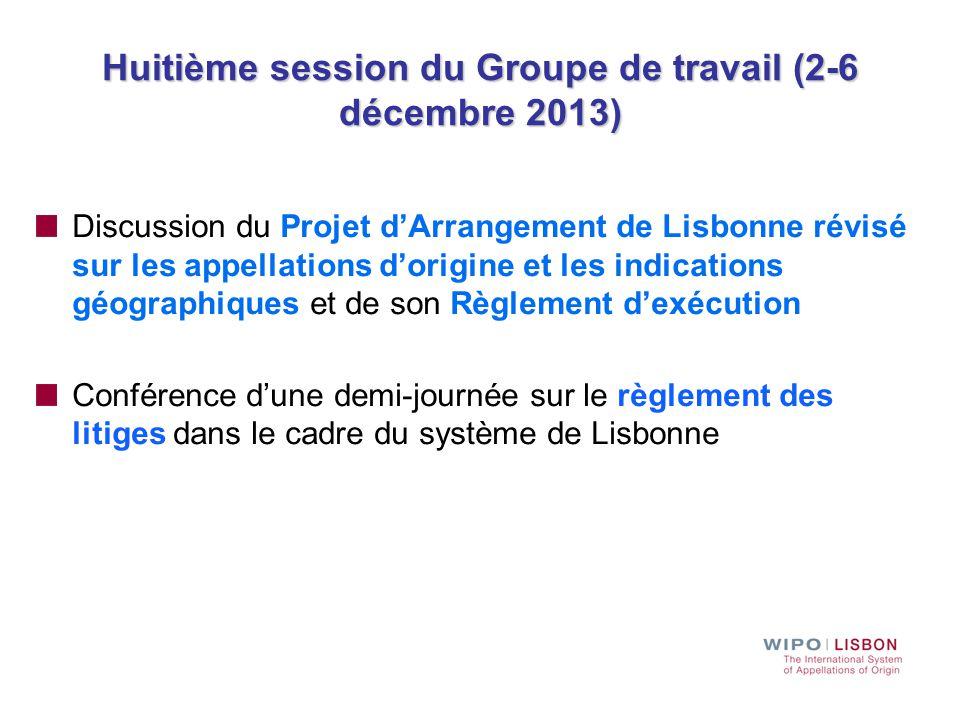 Huitième session du Groupe de travail (2-6 décembre 2013)