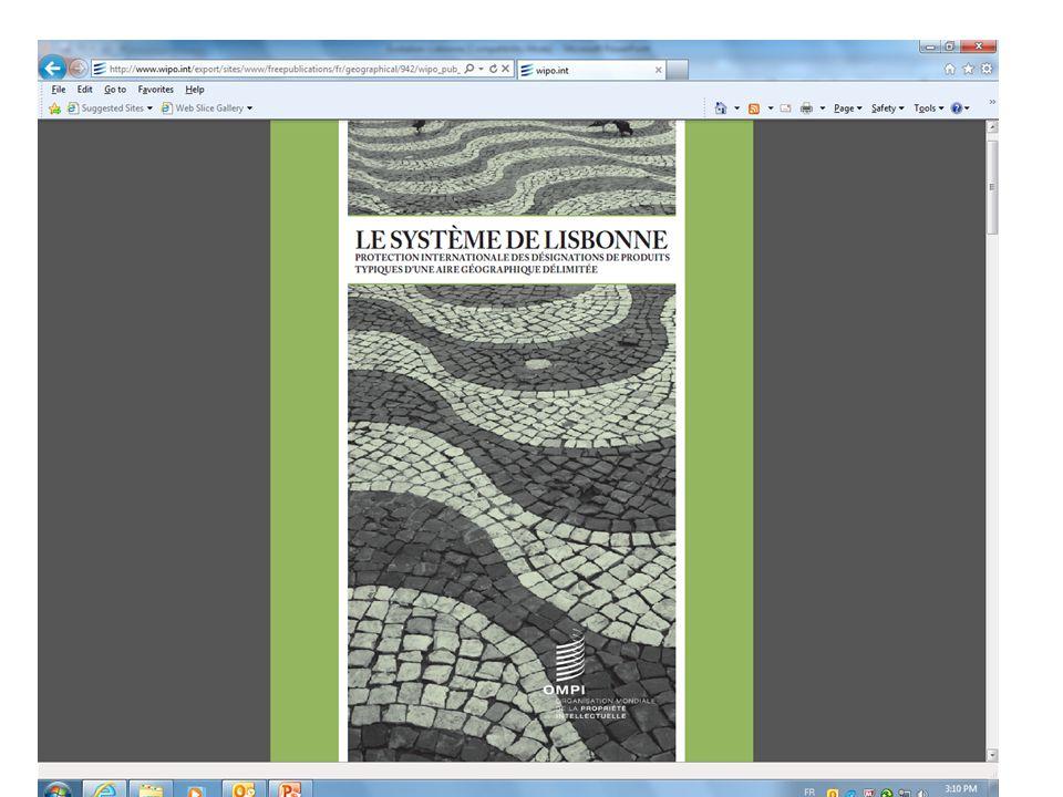 Publication de l'OMPI No. 942(F)