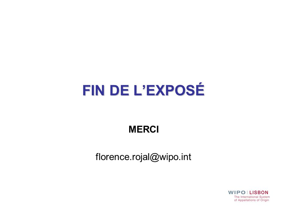 MERCI florence.rojal@wipo.int