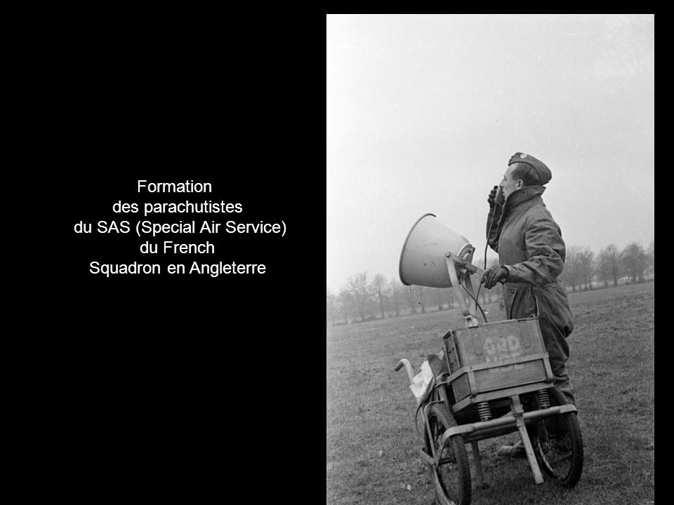 du SAS (Special Air Service) du French Squadron en Angleterre