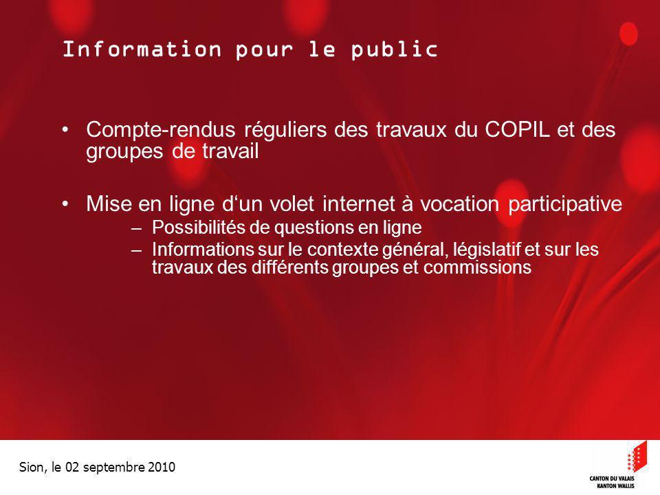 Information pour le public