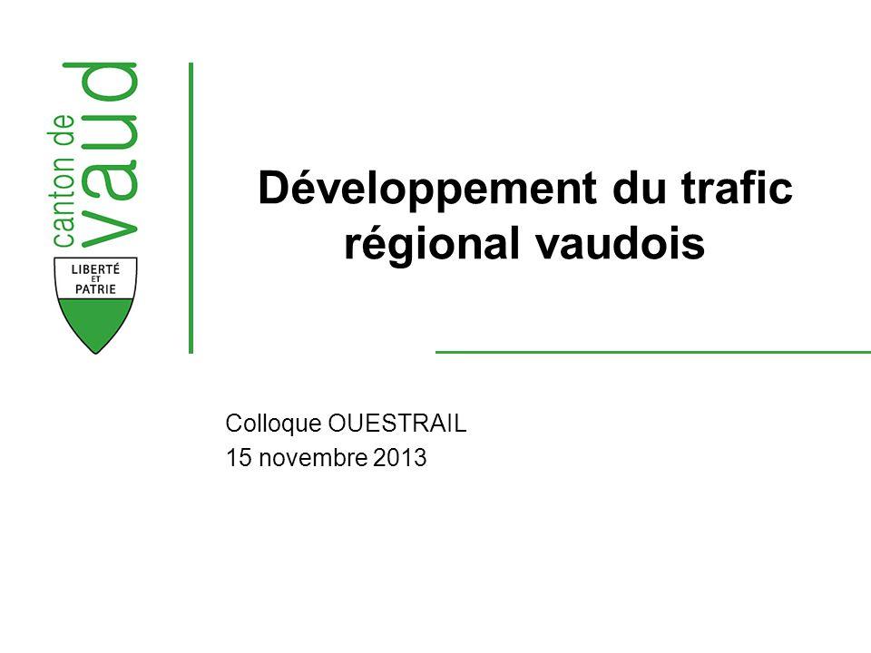 Développement du trafic régional vaudois