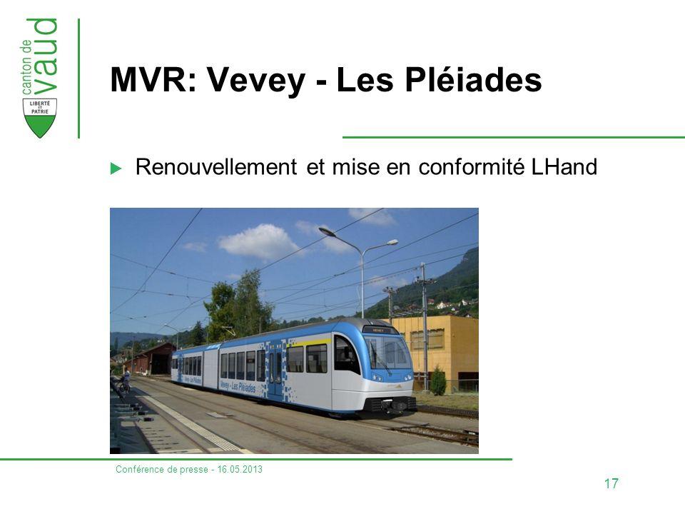 MVR: Vevey - Les Pléiades