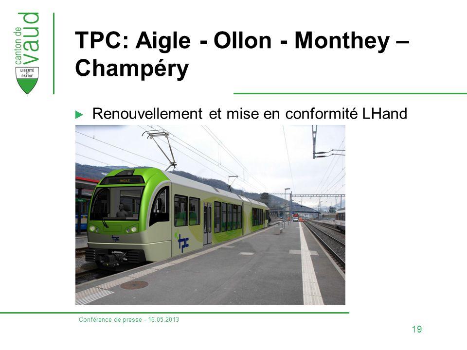 TPC: Aigle - Ollon - Monthey – Champéry