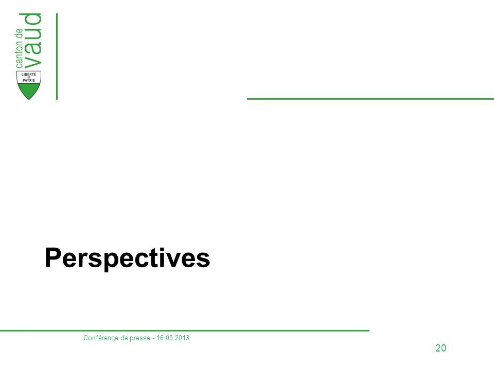 Perspectives Conférence de presse - 16.05.2013