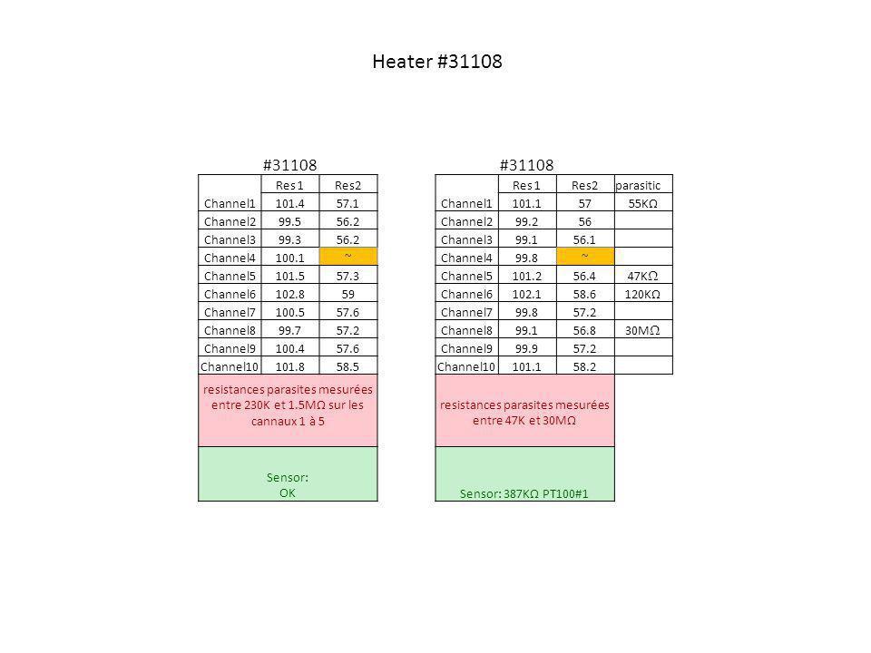 resistances parasites mesurées entre 47K et 30MΩ