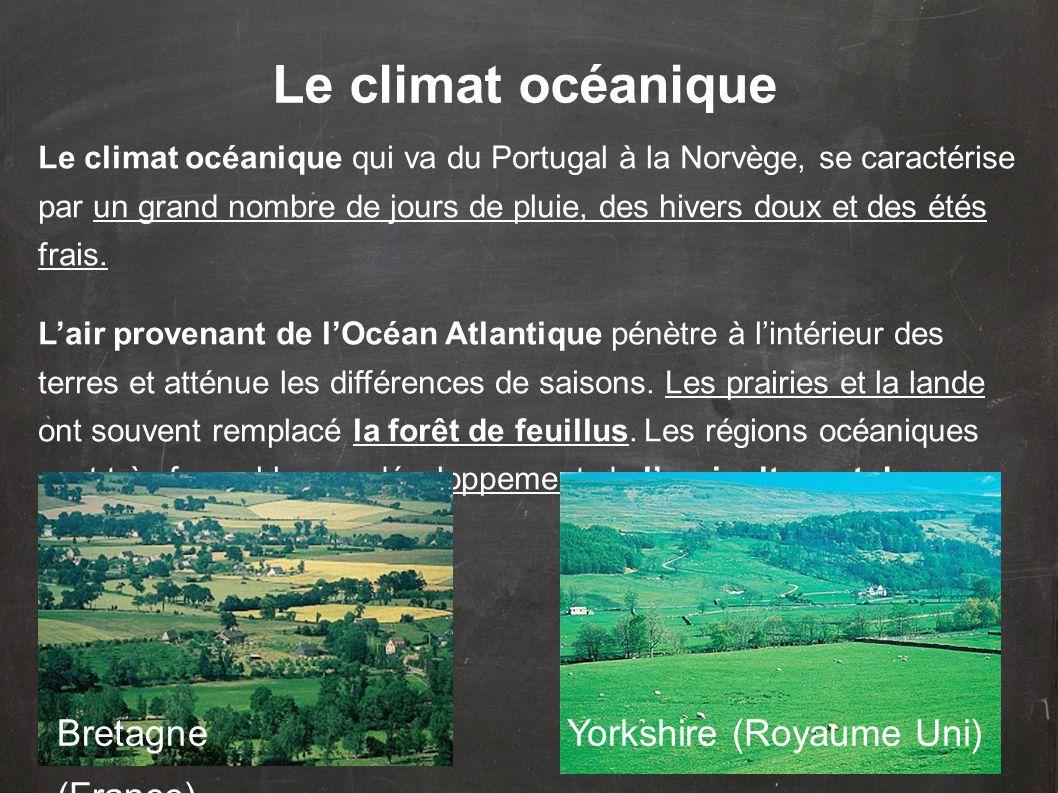 Le climat océanique Bretagne (France) Yorkshire (Royaume Uni)