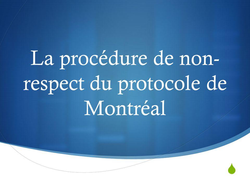 La procédure de non-respect du protocole de Montréal