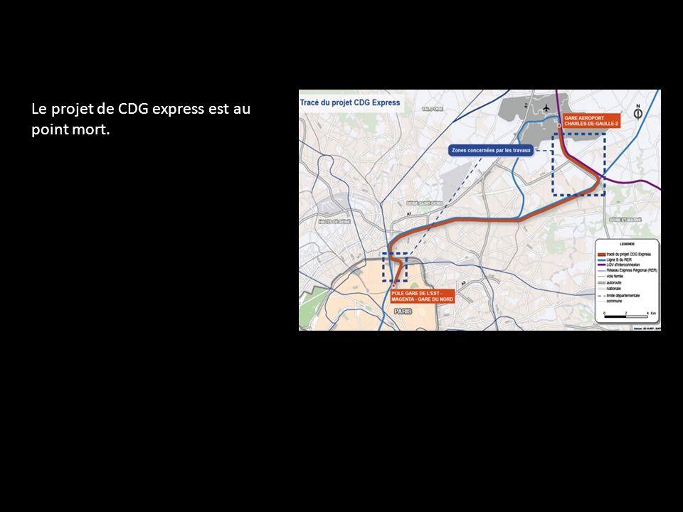 Le projet de CDG express est au point mort.