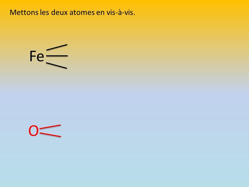 Mettons les deux atomes en vis-à-vis.