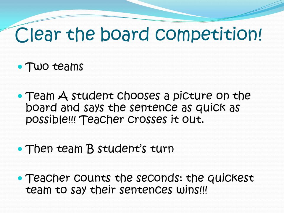 Clear the board competition!