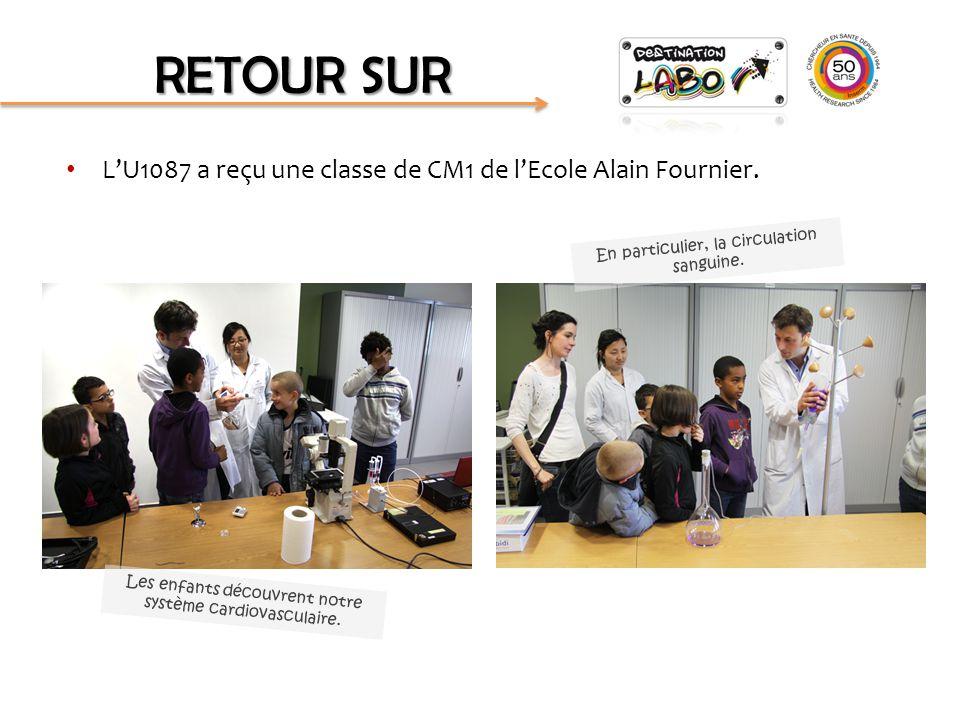 RETOUR SUR L'U1087 a reçu une classe de CM1 de l'Ecole Alain Fournier.
