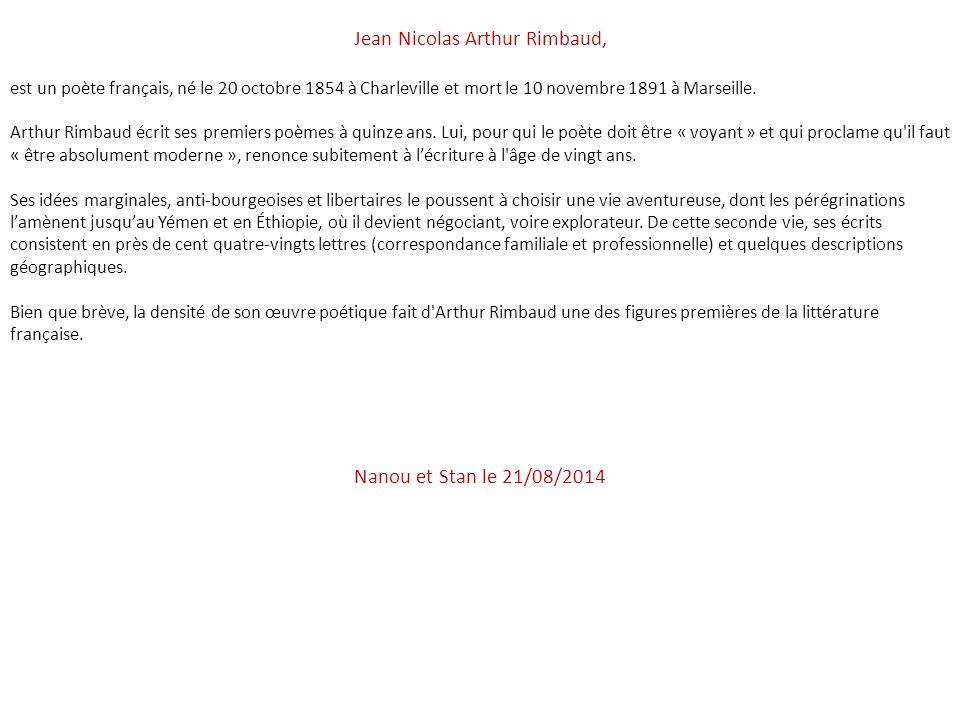 Jean Nicolas Arthur Rimbaud,