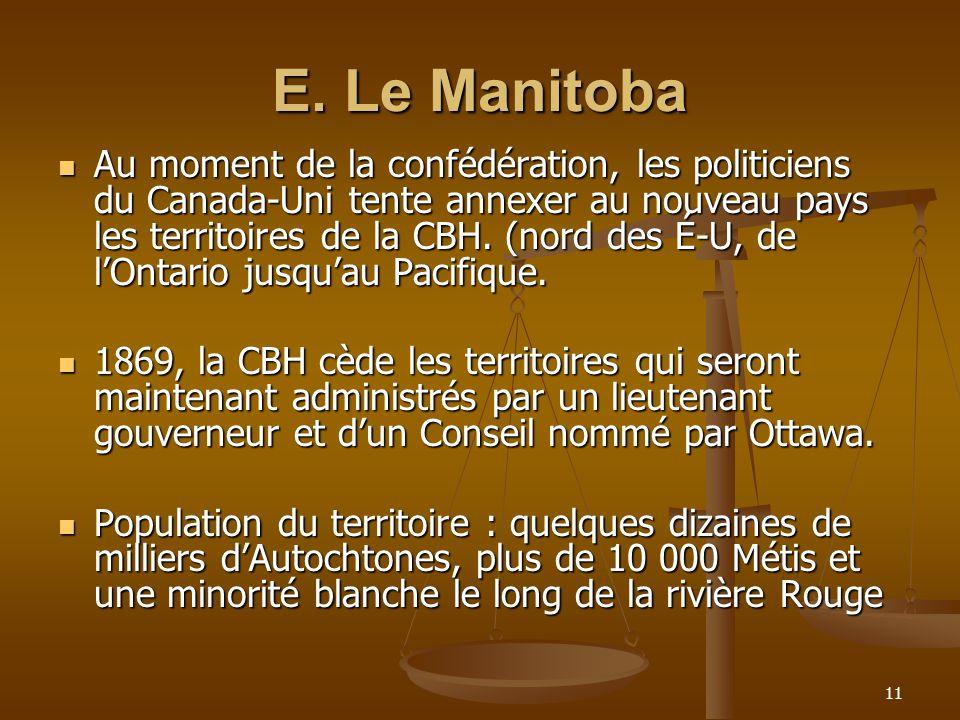 E. Le Manitoba