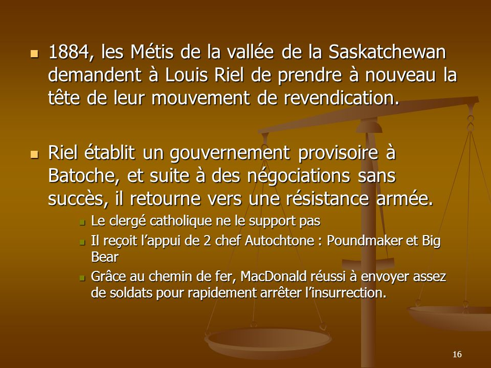 1884, les Métis de la vallée de la Saskatchewan demandent à Louis Riel de prendre à nouveau la tête de leur mouvement de revendication.