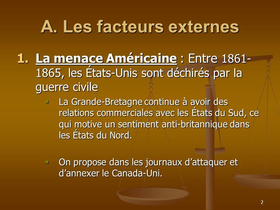 A. Les facteurs externes