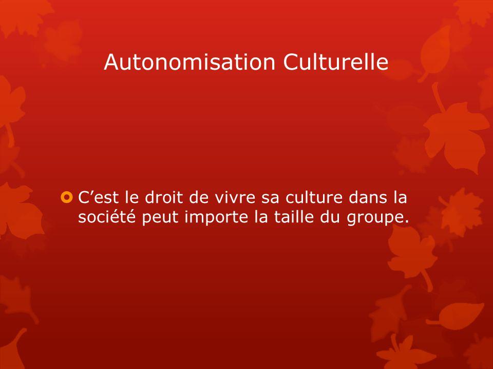Autonomisation Culturelle