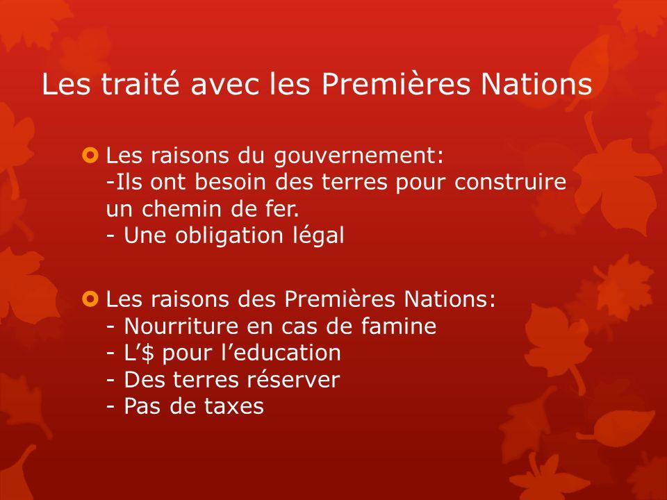 Les traité avec les Premières Nations