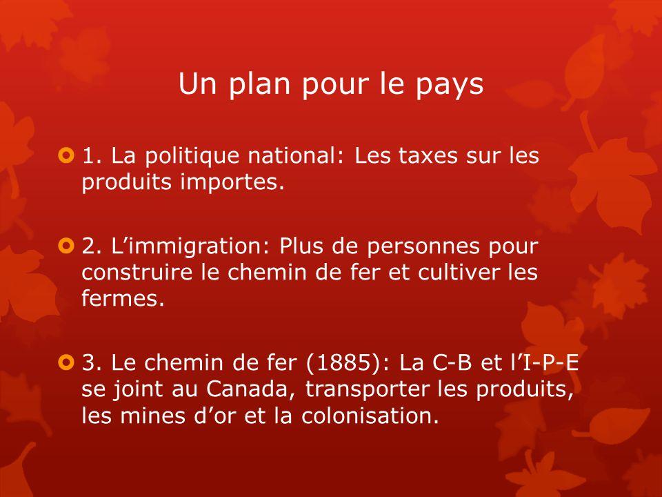 Un plan pour le pays 1. La politique national: Les taxes sur les produits importes.