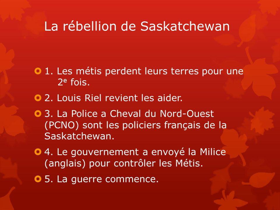 La rébellion de Saskatchewan