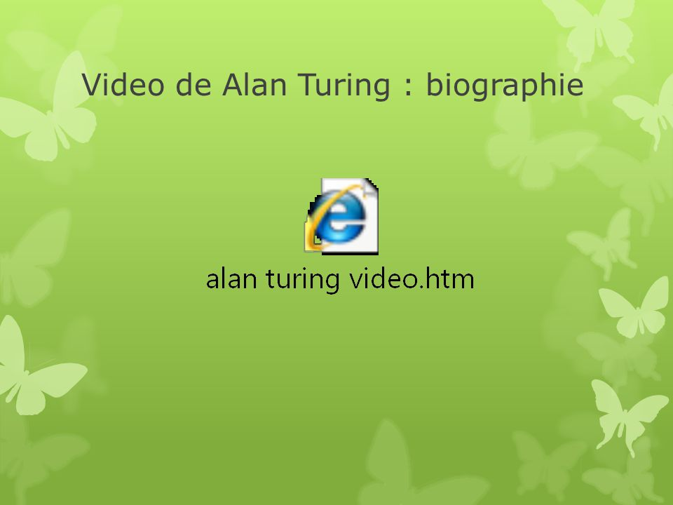 Video de Alan Turing : biographie