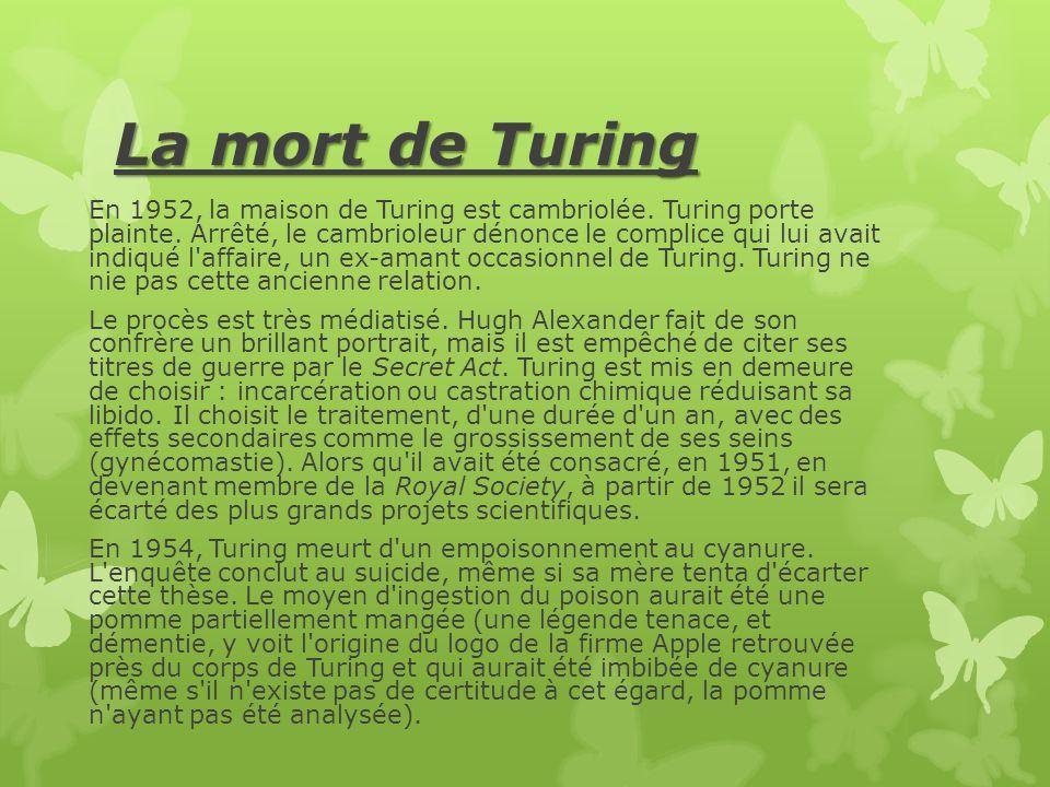La mort de Turing