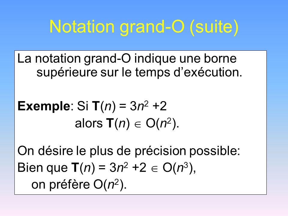 Notation grand-O (suite)