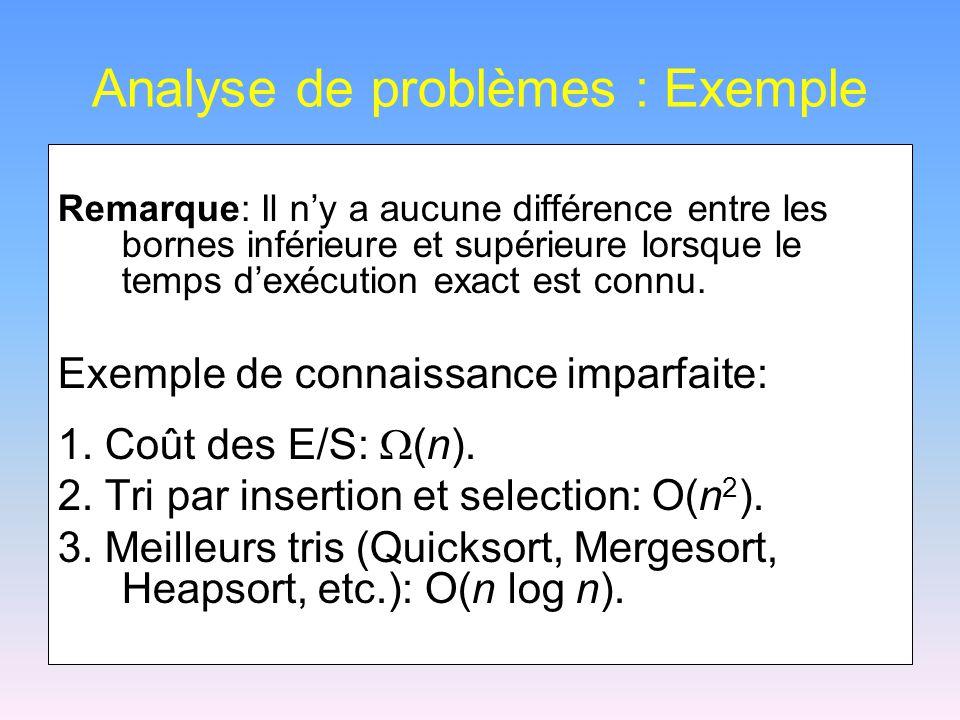 Analyse de problèmes : Exemple