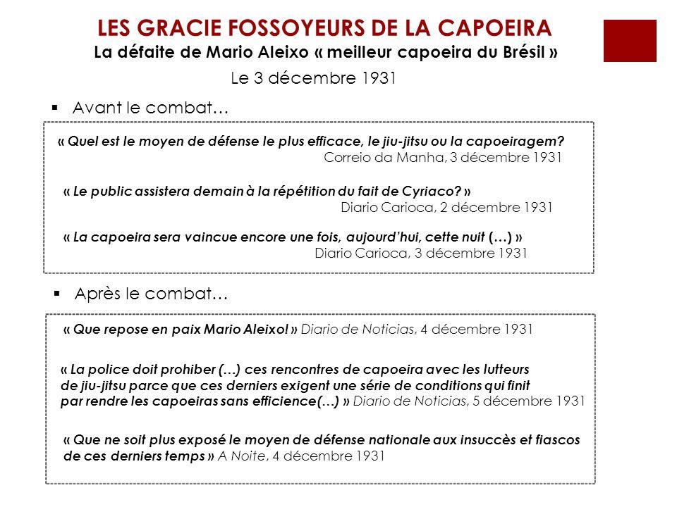 LES GRACIE FOSSOYEURS DE LA CAPOEIRA