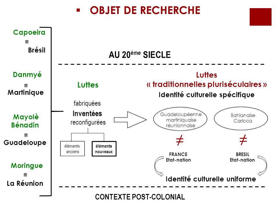 « traditionnelles pluriséculaires » Identité culturelle spécifique