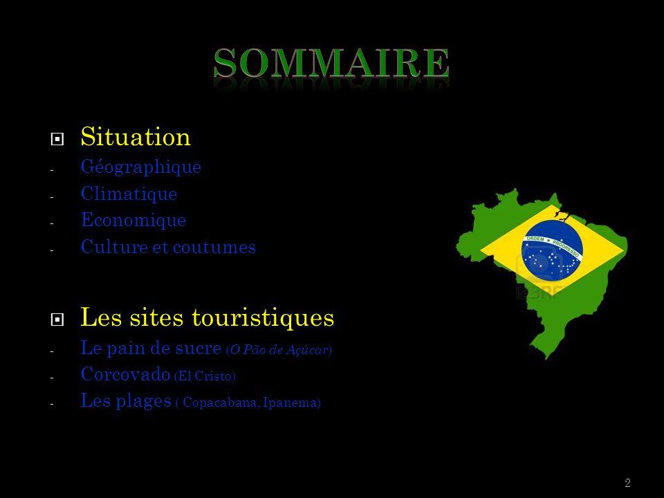 Sommaire Situation Les sites touristiques Géographique Climatique