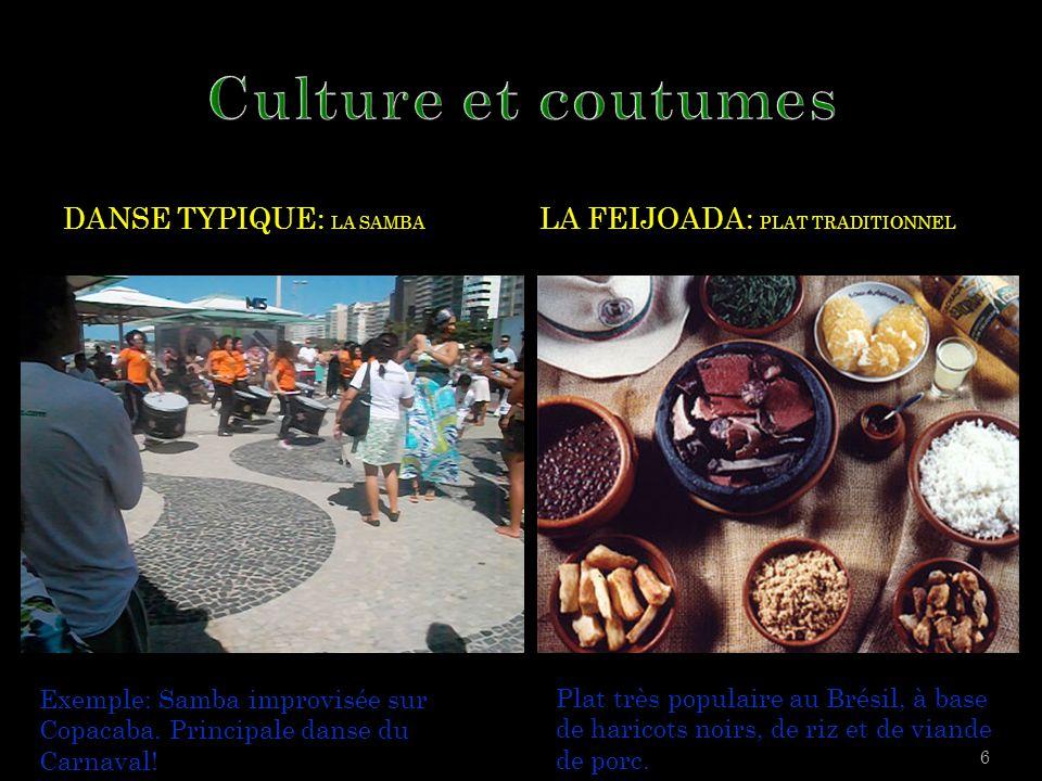 Culture et coutumes Danse typique: La samba