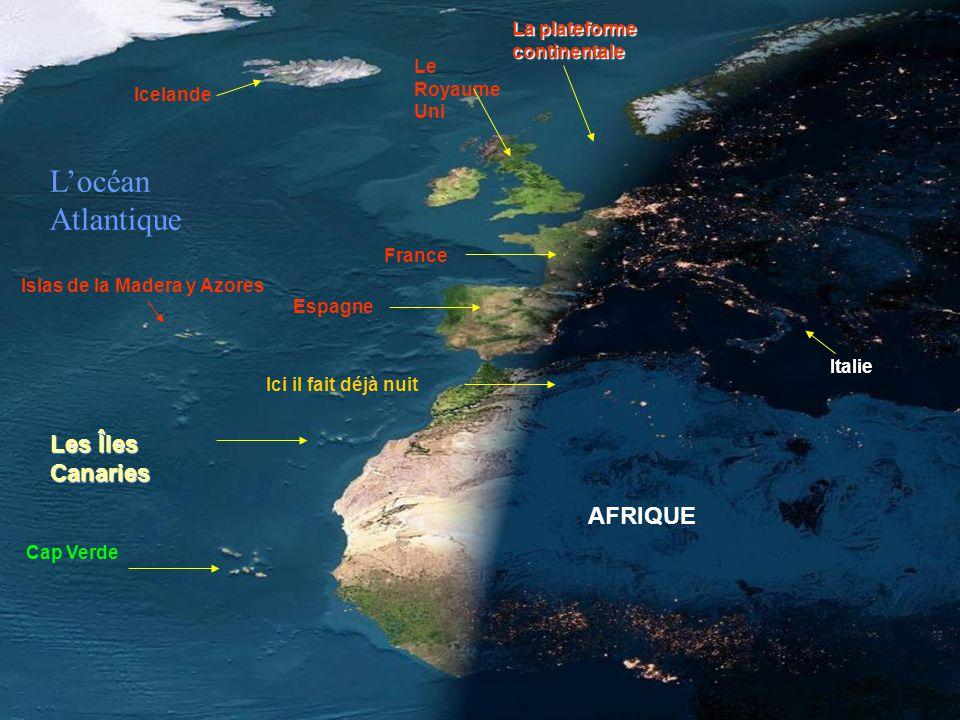 L'océan Atlantique Les Îles Canaries AFRIQUE