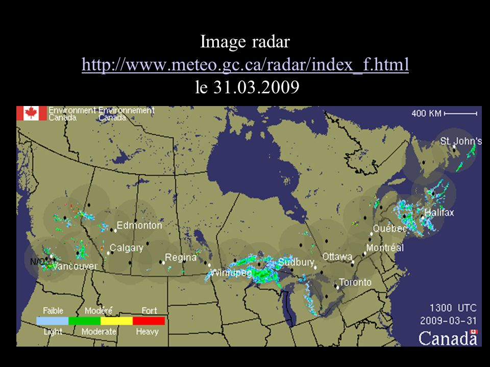 Image radar http://www.meteo.gc.ca/radar/index_f.html le 31.03.2009