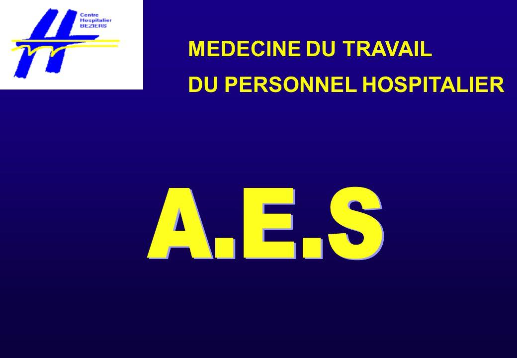 MEDECINE DU TRAVAIL DU PERSONNEL HOSPITALIER A.E.S