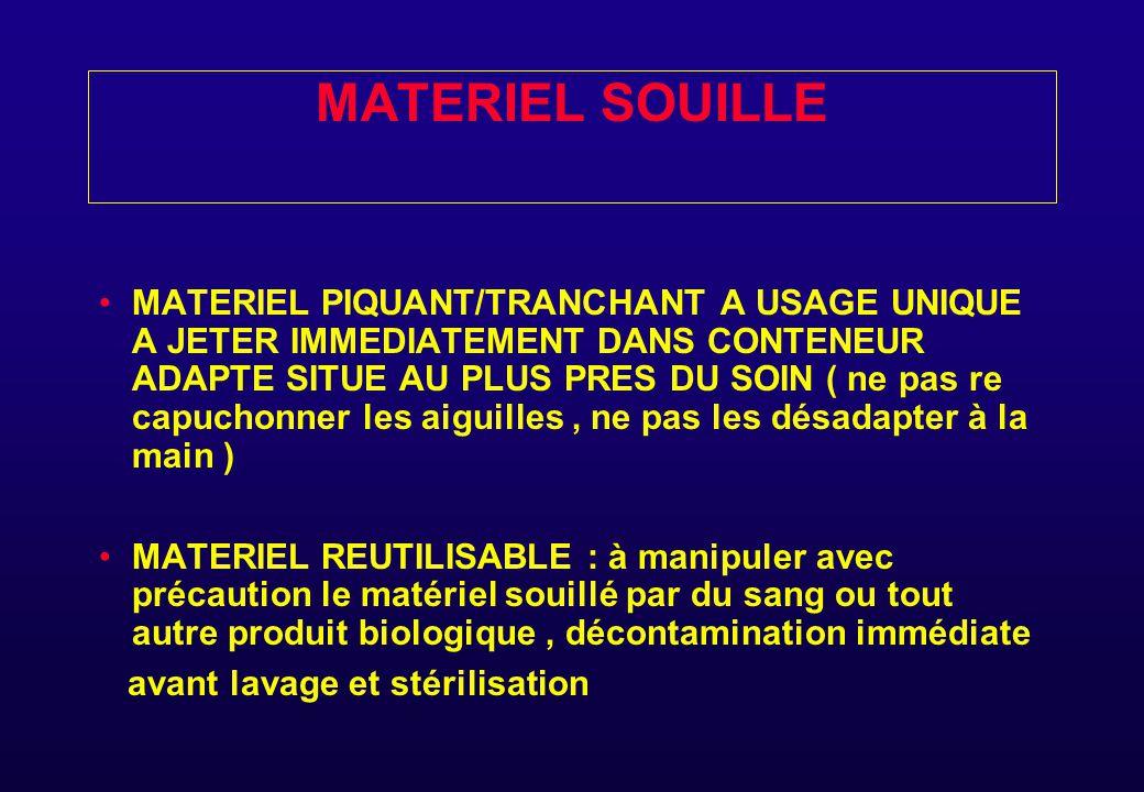 MATERIEL SOUILLE