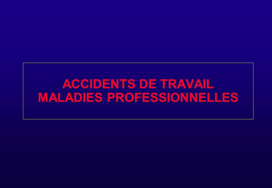 ACCIDENTS DE TRAVAIL MALADIES PROFESSIONNELLES