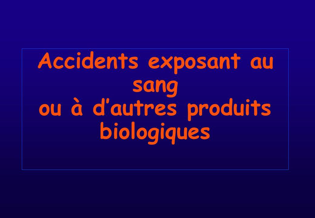 Accidents exposant au sang ou à d'autres produits biologiques