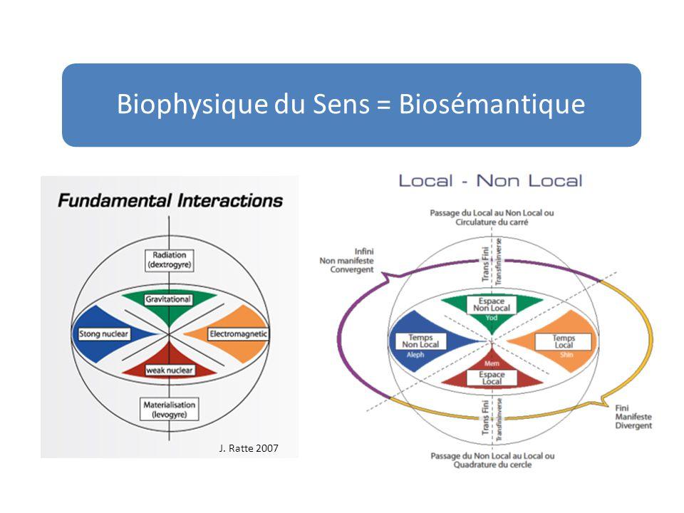 Biophysique du Sens = Biosémantique