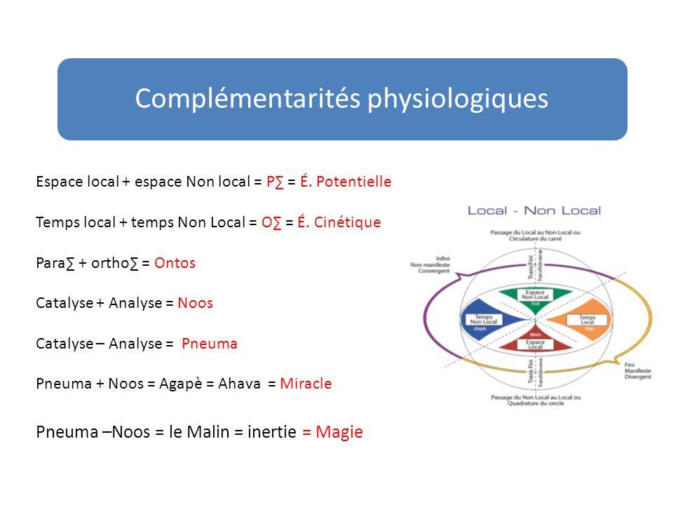 Complémentarités physiologiques