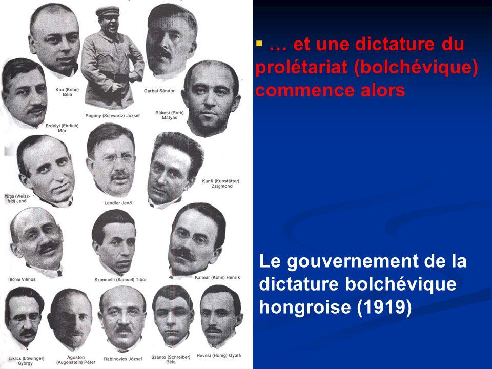 … et une dictature du prolétariat (bolchévique) commence alors