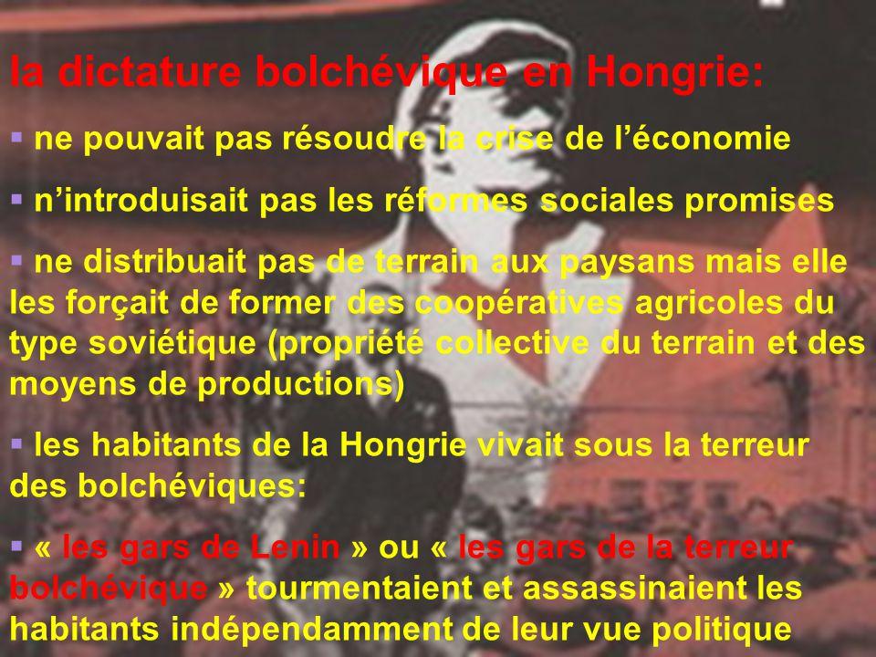 la dictature bolchévique en Hongrie: