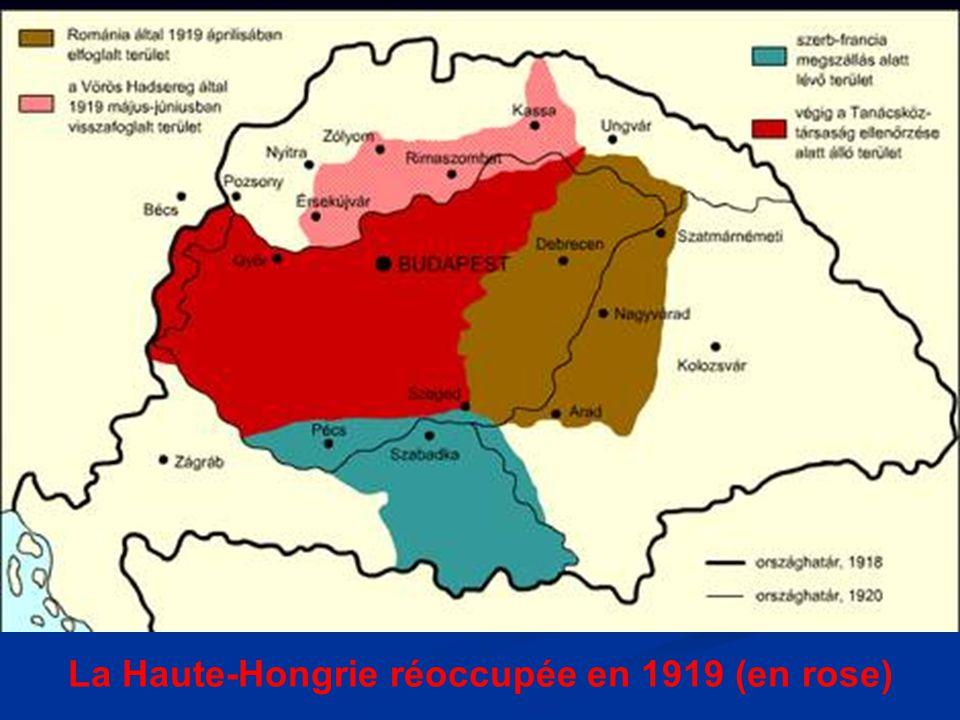 L influence de la premi re guerre mondiale sur la hongrie for Haute hongrie